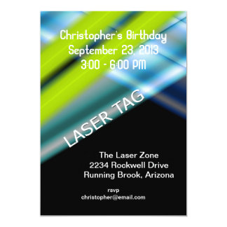 Laser Tag Birthday Card