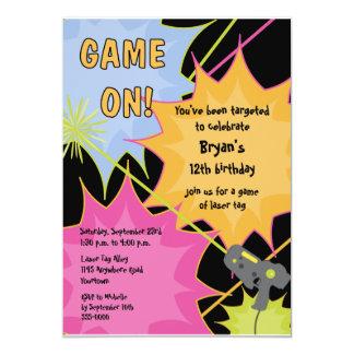 "Laser Tag Birthday Invitation 5"" X 7"" Invitation Card"