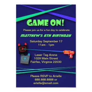 Laser Tag Birthday or Team Building Party 11 Cm X 16 Cm Invitation Card