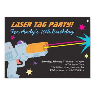 "Laser Tag Birthday Party Invitations 5"" X 7"" Invitation Card"