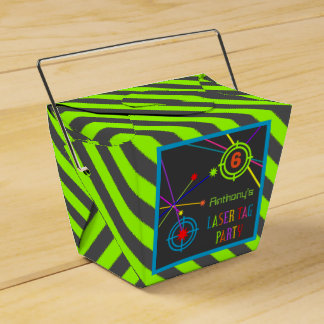 Laser Tag Party Birthday Favor Box