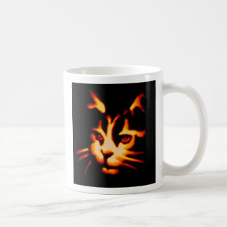 Laser View of a Halloween Cat Coffee Mugs