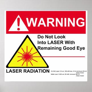 LASER Warning Poster