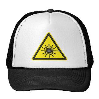 Laser Warning Symbol Cap Mesh Hats