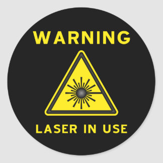 Laser Warning Symbol Sticker