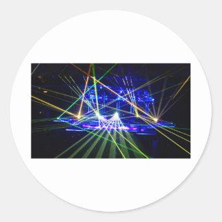Lasers Round Sticker