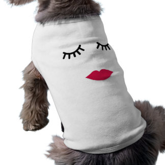 Lash and Red Lip Sweet Girl Portrait Shirt