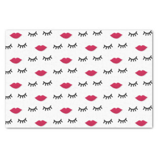 Lash and Red Lip Sweet Girl Portrait Tissue Paper