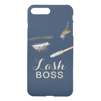 Lash Boss Modern Gold Eyelash Extensions Navy iPhone 7 Plus Case