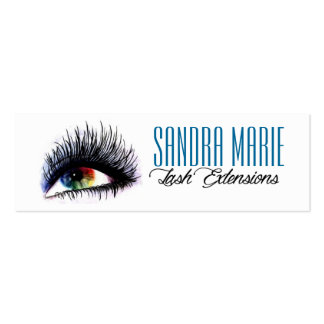 lash extensions skinny business cards
