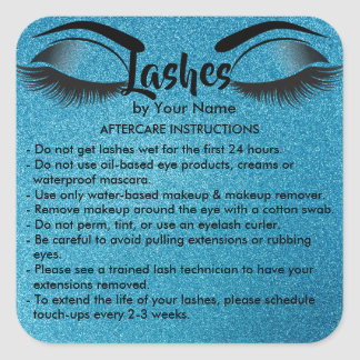 Lashes AFTERCARE INSTRUCTIONS Sticker