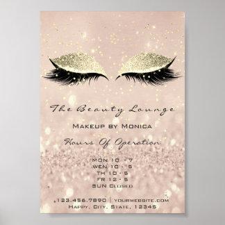 Lashes Extens Makeup Artist Glitter Beauty Salon Poster