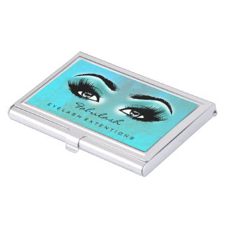 Lashes Extension Makeup Ocean Brown Microblading Business Card Holder