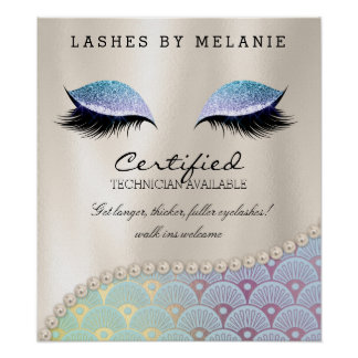 Lashes Eyelash Makeup Poster Pretty Eyes Mermaid