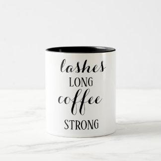 Lashes Long Coffee Strong Coffee Mug