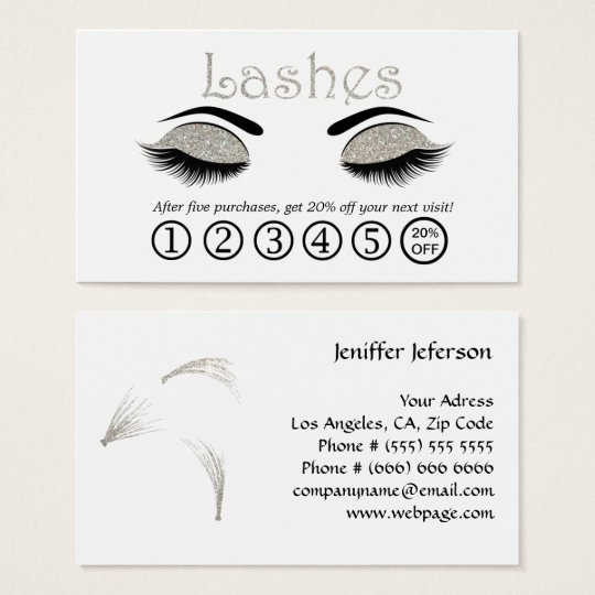 Lashes Loyalty Business Card