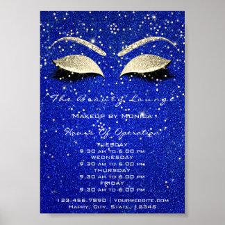 Lashes Makeup Artist Glitter Beauty Salon Cobalt Poster