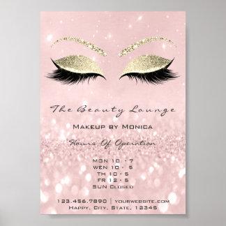 Lashes Makeup Artist Glitter Beauty Salon Pink Poster