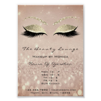 Lashes Makeup Artist Glitter Beauty Salon Skinny Poster