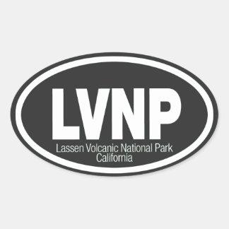 Lassen Volcanic National Park Oval Sticker