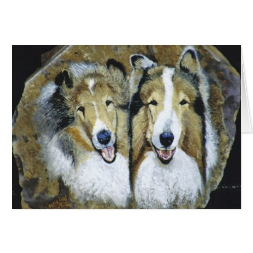 """Lassie and Lad"" Greeting Card"