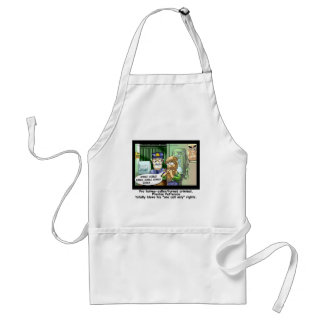 Last Call 4 Turkeys Funny Cartoon Gifts Adult Apron