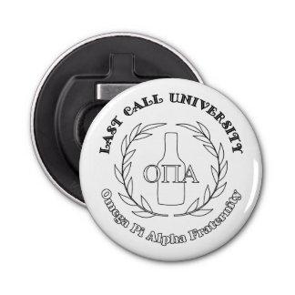 Last Call University Omega Pi Alpha Bottle Opener