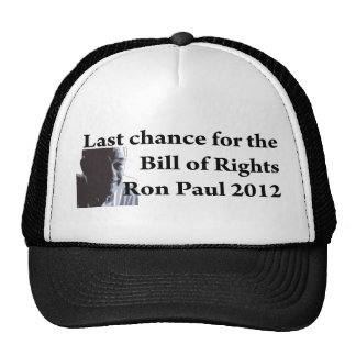 Last chance for the bill of rights hats