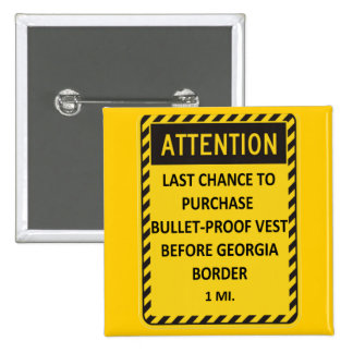 Last chance to buy bullet-proof vest before GA! 15 Cm Square Badge
