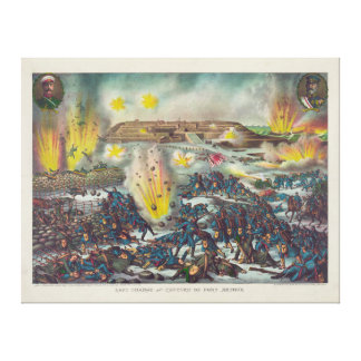 Last Charge and Capture of Port Arthur Gallery Wrapped Canvas