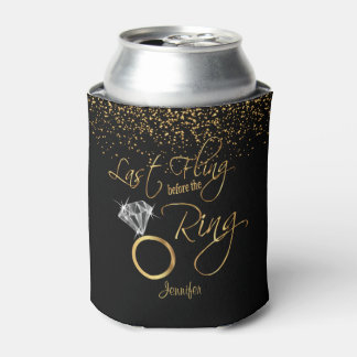 Last Fling before the Bling - Gold Can Cooler