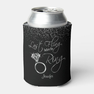 Last Fling before the Bling - Silver Can Cooler