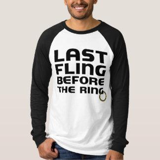 Last Fling Before the Ring Bachelor Party Raglan T-shirt