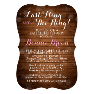 """Last Fling Before The Ring"" Bachelorette Invite"