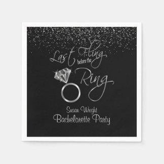 Last Fling Before the Ring Bachelorette - Silver Paper Napkins