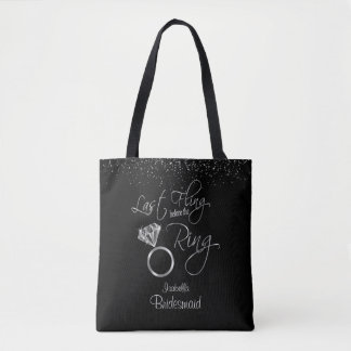 Last Fling Before the Ring Bachelorette - Silver Tote Bag