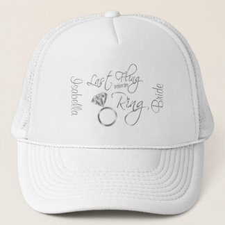Last Fling Before the Ring Bachelorette - Silver Trucker Hat