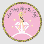 Last Fling before the Ring     Favour Sticker