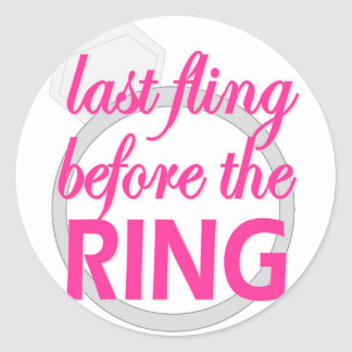 Last Fling Before the Ring sticker