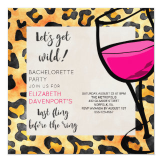 Last Fling Before The Ring Wild Bachelorette Party Card