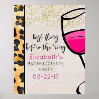 Last Fling Before The Ring Wild Print Bachelorette