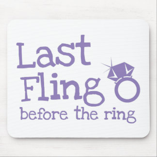 Last fling before the ring with diamond mouse pad