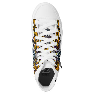 Last Foreign Queen Zip High Top Shoes, Women 6 Printed Shoes