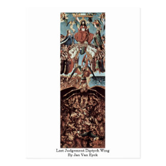 Last Judgement Diptych Wing By Jan Van Eyck Postcard