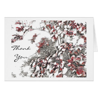 Last Leaves of Autumn Thank You Card