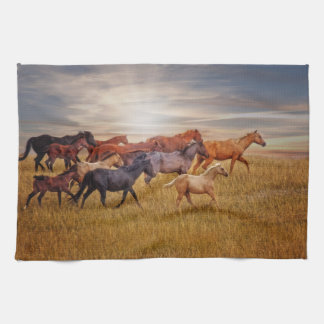 Last Light's Run Horse Kitchen Towel