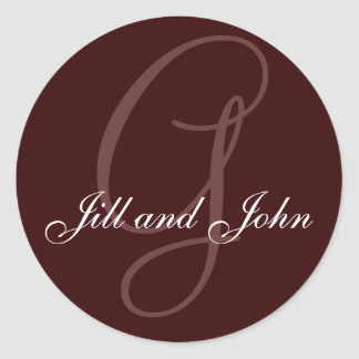 Last Name Initial G plus First Name Round Sticker