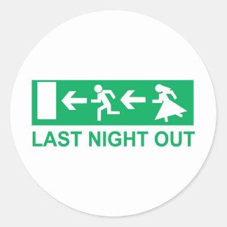 last night out round sticker