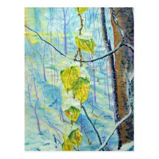 Last of the Leaves Postcard