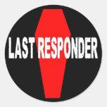 Last Responder Round Stickers